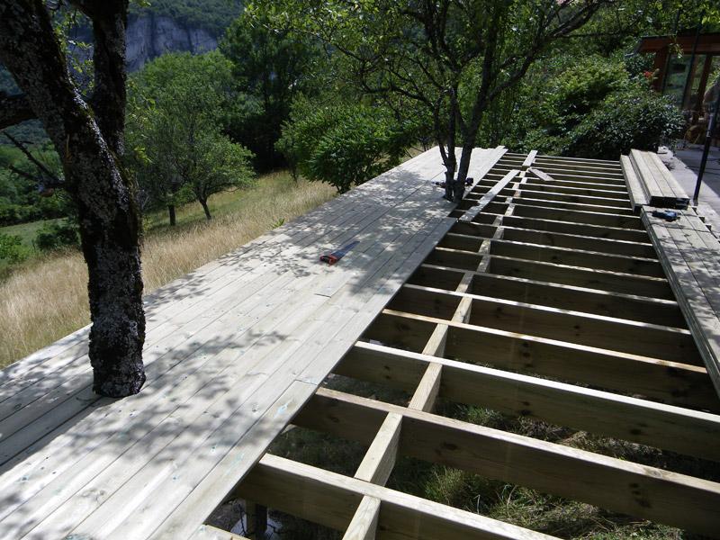 Terrasse bois Grenoble 38 Isère Construction terrasses bois